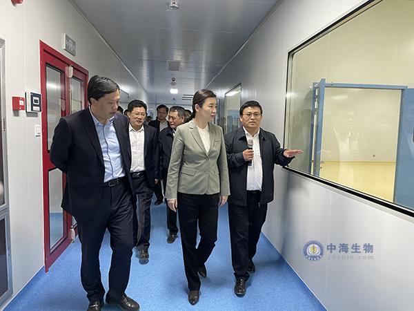 枣庄市市长张宏伟到中海生物公司调研
