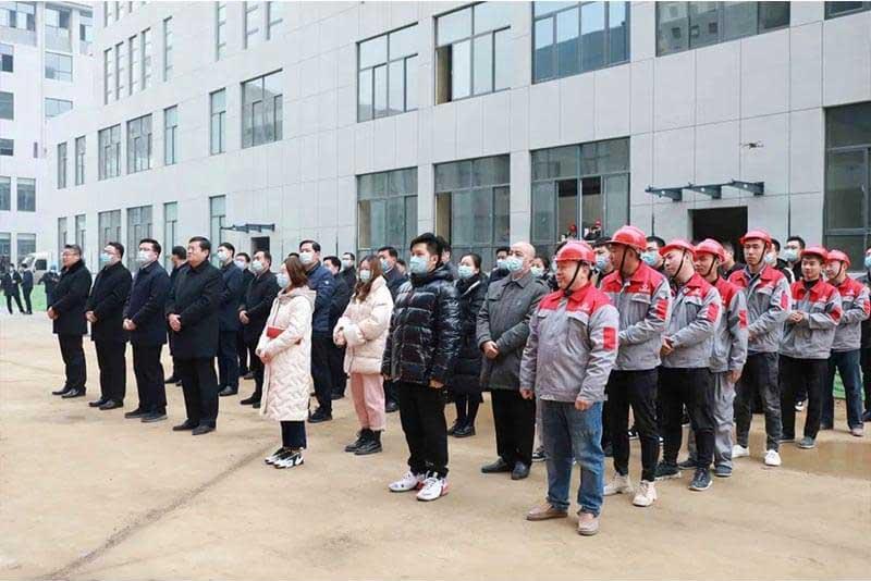 市中区各部门(局、街道)主要负责人及中海生物技术部分员工和施工团队参加开工仪式